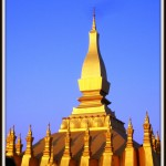 The Golden Stupa. Vientiane, Laos.
