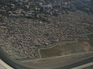Mumbia Slums - Aerial View