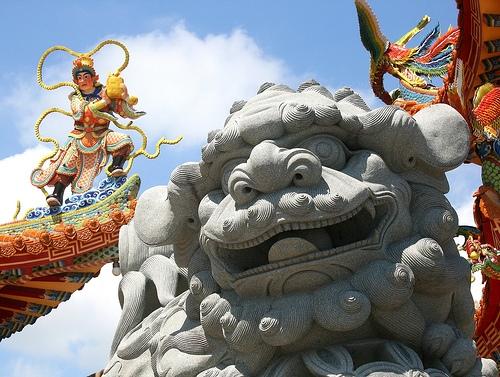 Fu Dog and Taiwanese Temple