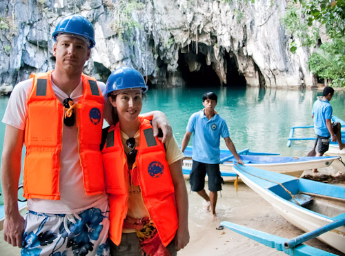 Exploring the Underground River at Sabang