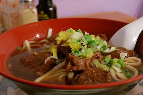 Beef noodle soup by Stu Spivak