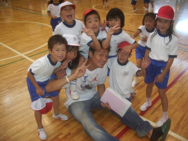 Terry Chung at Ogohigashi Elementary School