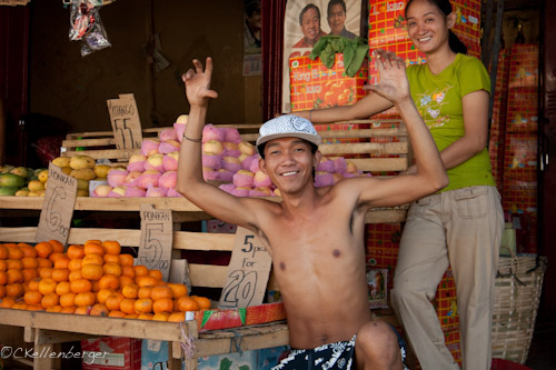 Friendly Fruit Vendor in Palawan, Philippines