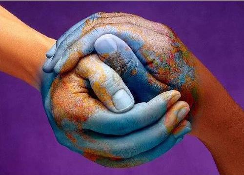 world in hands