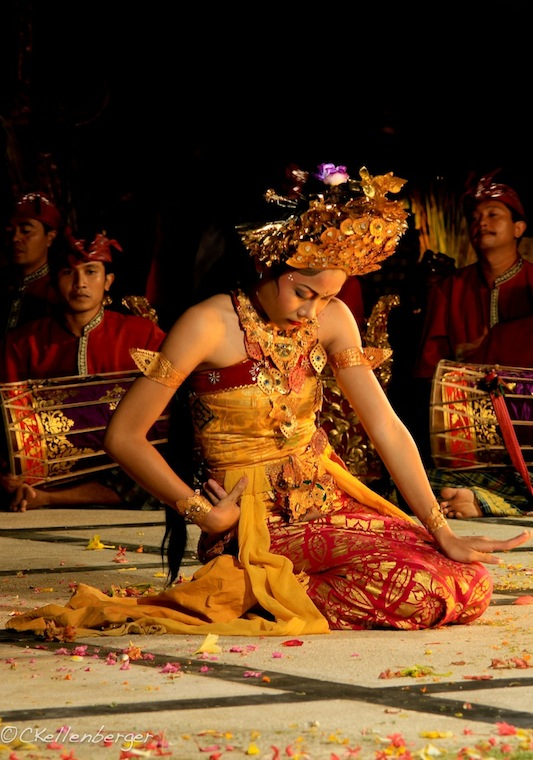 Young Balinese Dancer in Candidasa, Bali, Indonesia