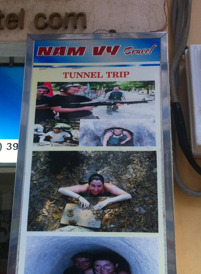 Carrie at Cu Chi Tunnels