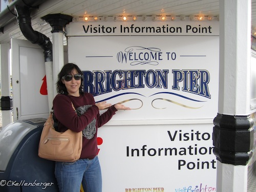 Carrie Kellenberger visits Brighton Pier