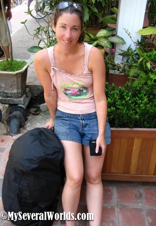 Carrie Kellenberger in Vientiane