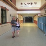 Carrie Kellenberger and her dad Tom Marshall return to CPHS