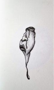 Self Portrait of Artist in Pain by Jennifer Walker