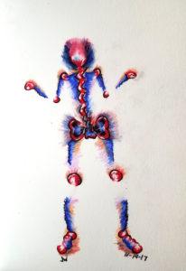A Skeleton On Fire by Jennifer Walker
