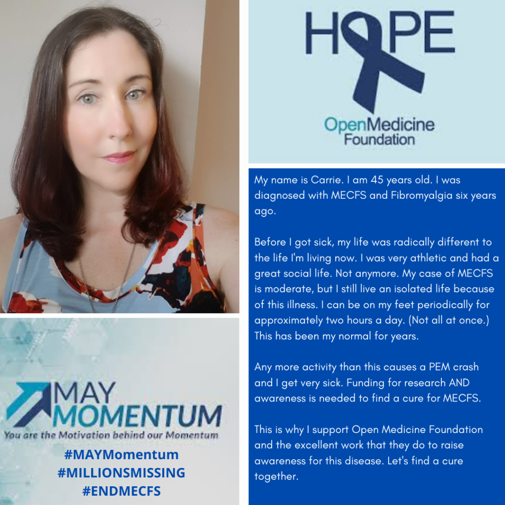 May Momentum - Carrie Kellenberger's Story with ME for MECFS Day
