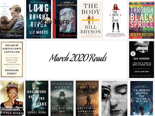 Carrie Kellenberger - March 2020 Books