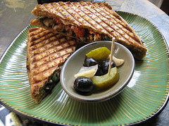 Grillled panini sandwich at Toasteria