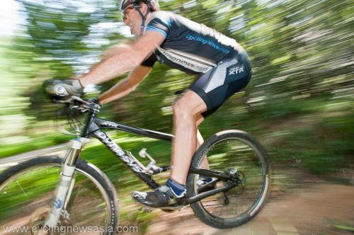 Daniel Carruthers Cycling in Shimano XTR Nanjin
