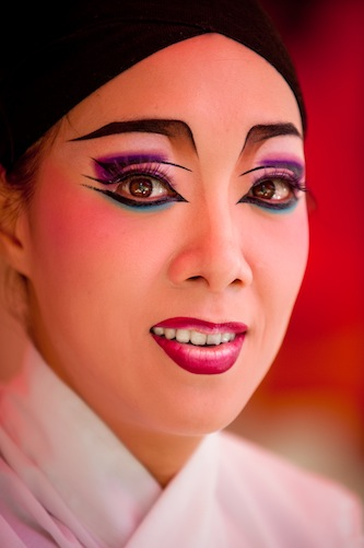 Performer in Taiwanese Opera Troupe