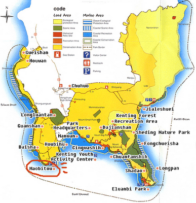 Map of Kenting National Park