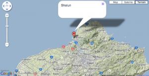 Map of Shalun Beach, Taipei