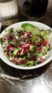 Salad with Raspberry Vinegarette Dressing