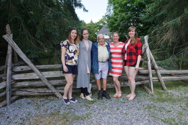 Bumpa with his Granddaughters - July 2016