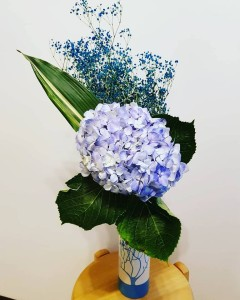 Blue Hydrangea - Ikebana as Art Therapy