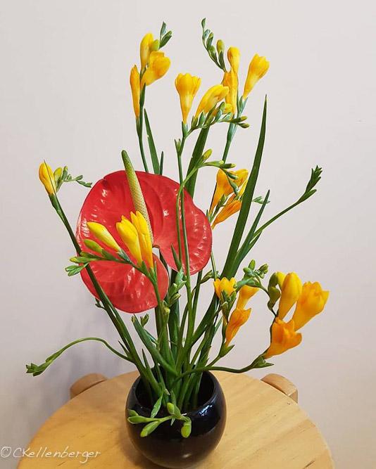 A Hot Mess floral arrangement by Carrie Kellenberger