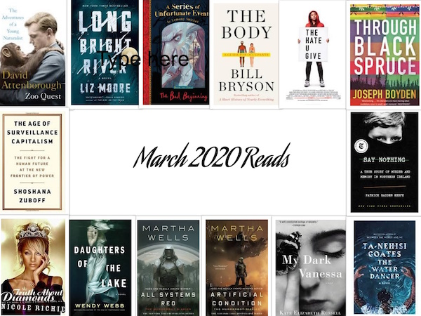 Carrie Kellenberger - March 2020 Books