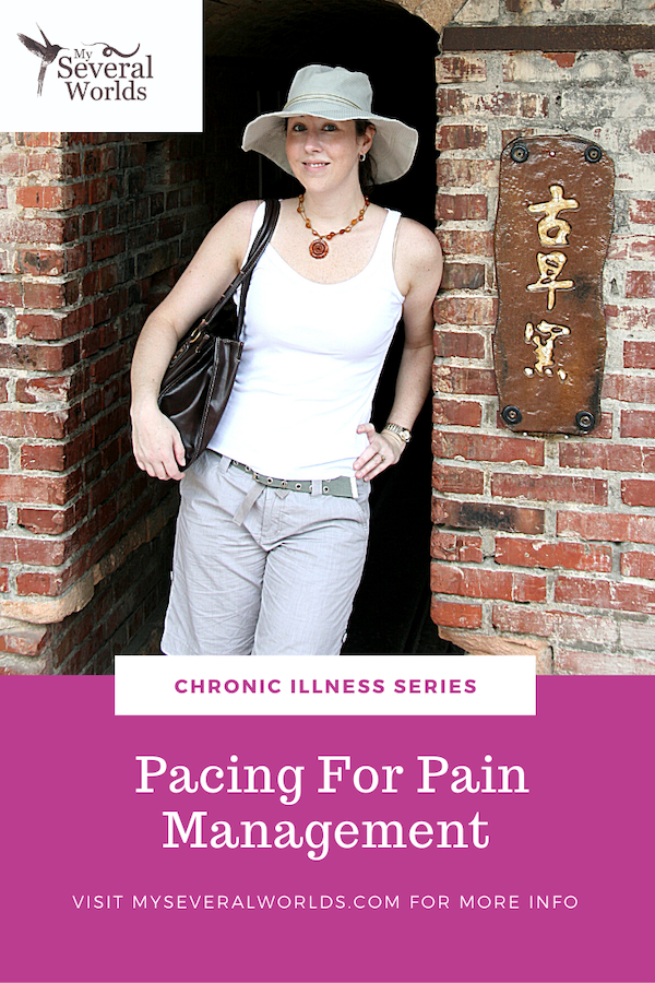 Tips and tricks I've learned from living with chronic illness for pacing for pain management. Pacing helps me track my activity and maintain energy levels so I don't burn out and make myself sick. Learn more in my article on pacing for pain management at MySeveralWorlds.com