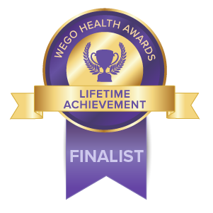 WEGO Health Awards 2020 FINALIST - Lifetime Achievement Award - Carrie Kellenberger, My Several Worlds